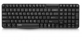Rapoo E1050 2.4 GHz Wireless keyboard - Black