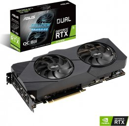 Asus NVIDIA GeForce RTX 2070 Super Overclocked 8G Video Card - DUAL-RTX2070S-O8G-EVO