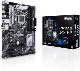 ASUS PRIME Z490-P LGA 1200 (Intel 10th Gen) Intel Z490 SATA 6Gb/s ATX Intel Motherboard (Dual M.2, DDR4 4600, 1Gb Ethernet, USB 3.2 Gen 2 USB Type-A, Thunderbolt 3 Support, Aura Sync RGB)