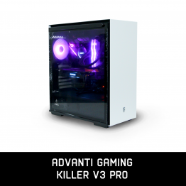 ADVANTI Gaming Killer V3 Pro: AMD 3600X, GeForce GTX 1080 8GB GDDR 5, 16GB RAM, 250 GB SSD, WD 1TB, 700W Power Supply, Windows 10 Home - 1 Year Warranty - ADV-G-K-V3PRO