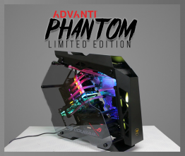 ADVANTI PHANTOM LIMITED EDITION - Intel I9-9900K, Nvidia RTX 2080 11GB GDDR6, 64GB RAM, 1TB SSD, 2TB M.2 SSD, 850W PSU, Water Cooling System, Windows 10 PRO 64bit,  - 1 Year Warranty - ADV-PHAN-01-L-EDITION