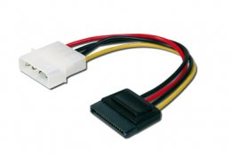 DIGITUS Internal power supply cable 0.15m, IDE - SATA 15pin connector - DK-430300-002-M