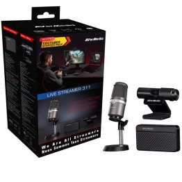 AverMedia Live Sreamer 311 Streaming Kit Microphone, Capture Card, Webcam,Youtuber Starter Pack  - 61BO311000AE