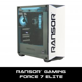 RANSOR Gaming Force 7 Elite: Intel Core i7-9700K, GeForce RTX 2070, 16 GB DDR4 RAM, 500 GB SSD, 4 TB Hard Drive, 600w PSU, Windows 10 Home - 1 Year Warranty