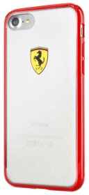 Ferrari Racing Shield TPU Transparent Case for iPhone 7 - Red
