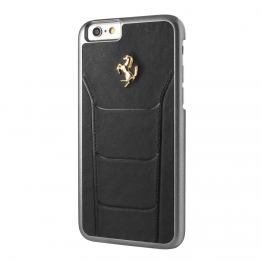 Ferrari 488 Collection Leather Hard Case Apple iPhone 7 - Black