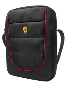 "Ferrari Scuderia Tablet Bag with Shoulder Straps 10""- Black"