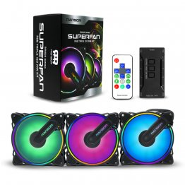 RANSOR Gaming Superfan RGB Triple 120 Fan Kit