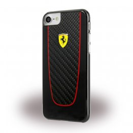 Ferrari Pit Stop Real Carbon Fiber Hard Case for Apple iPhone 7 - Black