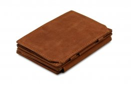 Garzini Magic Coins and ID Window Wallet RFID Leather Hold Up to 17 Card - Java Brown