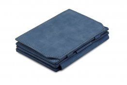 Garzini Magic Coins and ID Window Wallet RFID Leather Hold Up to 17 Card - Sapphire Blue