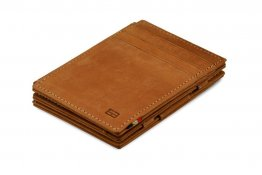 Garzini Magic Wallet RFID Leather Plus Magistrable Hold Up to 23 Card - Camel Brown