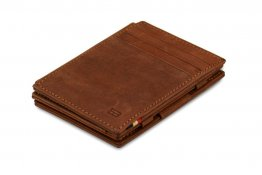 Garzini Magic Wallet RFID Leather Plus Magistrable Hold Up to 23 Card - Java Brown
