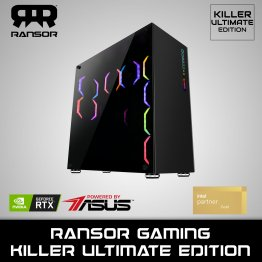 RANSOR Gaming Killer Ultimate Edition: Intel Core I9-10900K, NVIDIA GeForce RTX 3090 24 GB, 64 GB RAM, 2TB NVME, 4TB HDD, 1200W Gold PSU - 1 Year Warranty