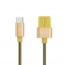 REMAX RC-080a 1m USB to USB-C / Type-C Data Sync Charging Cable - Gold