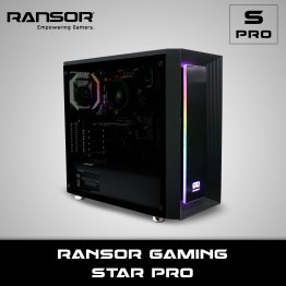 RANSOR Gaming Star Pro: AMD 3100, GeForce GT 1030 2GB, 8 GB RAM, 500 GB SSD, 500W Power Supply, 1 Year Warranty - RNSR-PC-SPRO-20