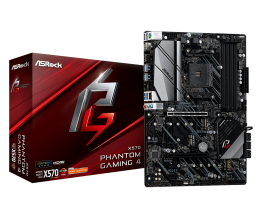 ASRock X570 PHANTOM GAMING 4 Socket AM4/ AMD X570/ DDR4/ Quad CrossFireX/ PCIE 4.0/ SATA3&USB3.2/ M.2/ A&GbE/ HDMI/ DP/ ATX Motherboard