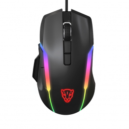 MOTOSPEED Wired Gaming Mouse ZEUS6400 Black- MOTO V90 BLACK (6 Month Warranty)
