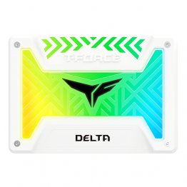 Team Group 250GB T-Force Delta RGB SSD - White - T253TR250G3C413