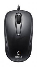 Circle CM318 Wired Optical Mouse USB - Black