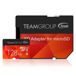 Team TCUSDX128GUHSII44 Group Xtreem 128GB Micro SDXC UHS-II U3 Memory Card