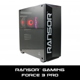 RANSOR Gaming Force 3 Pro: Intel Core i3-8100, NVIDIA GTX 1660 6GB, 8 GB RAM, 500 GB SSD, 500W PSU, Windows 10 Home - 1 Year Warranty - RNSR-PC-F3-PRO-01