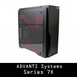 ADVANTI SYSTEMS Series 7: AMD Ryzen 7 2700, NVIDIA Quadro RTX 4000, 16 GB DDR4 RAM, 250 GB SSD, 2 TB HDD, 700W PSU - Windows 10 Pro - 1 Year Warranty