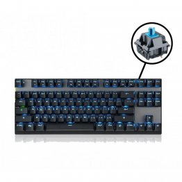 MOTOSPEED Bluetooth Mechanical Keyboard BLACK With BLUE Switch- MOTO GK82 B/BLUE (6 Month Warranty)