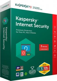 Kaspersky Internet Security 2017 3 Users -  1 Year
