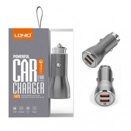 LDNIO QC 3.0 Dual Port Car Charger - C4070