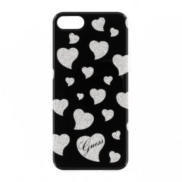 Guess Hearts TPU Case for iPhone 7 - Black