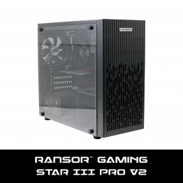 RANSOR Gaming Star III v2 Pro: AMD 3200G, GeForce GT 1030 2GB, 8 GB RAM, 500 GB SSD, 450W Power Supply, Windows 10 Home - 1 Year Warranty - RNSR-PC-SIII-PRO-R3