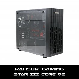RANSOR Gaming Star III v2 Core: AMD 3200G, 8 GB RAM, 250 GB SSD, 450W Power Supply, Windows 10 Home - 1 Year Warranty - RNSR-PC-SIII-CORE-R3