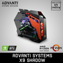 ADVANTI Systems X9 Shadow: AMD Ryzen 9 5950X, NVIDIA GeForce RTX 3090 24GB Edition, 64 GB DDR4 RAM, 2 TB NVME SSD, 4 TB HDD, 850W Power Supply - 1 Year Warranty - ADVSYS 20260