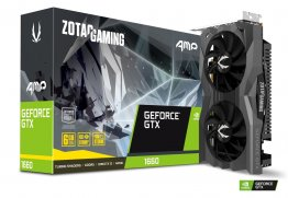 Zotac Gaming GeForce GTX 1660 AMP ZT-T16600D-10M 6GB GDDR5 192-bit PCI-E 3.0 Desktop Graphics Card