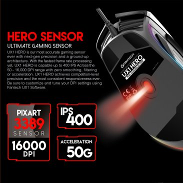Fantech UX1 Hero Ultimate Macro RGB Gaming Mouse