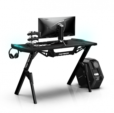 RANSOR Gaming Arena Desk with RGB Led Lights- RNSR-GD-ARNA-PRO