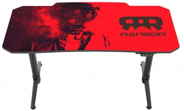 RANSOR Gaming Space Professional Desk with Intelligent Height Adjustment - 140x70cm w/ RANSOR Gaming MoozePad XXL Space Gamer Edition - RNSR-GD-SPACE-PRO