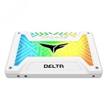 "Team Group 500GB 2.5"" T-Force Delta RGB SATA SSD - White - T253TR500G3C413"