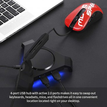 MOTOSPEED Gaming Mouse Bungee Cable Holder with 4 Port USB Hub- MOTO Q20 (6 Month Warranty)