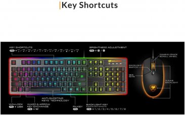 Cougar Deathfire EX Gaming Gear Combo Keyboard and Mouse Black - CG-DK-DEATHFIRE-BLK