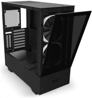 NZXT H510 Elite Compact Mid Tower Matte Black Matte Black Chassis with Smart Device 2 2x 140mm Aer RGB Case Fans 1x LED Strips- CA-H510E-B1.ME