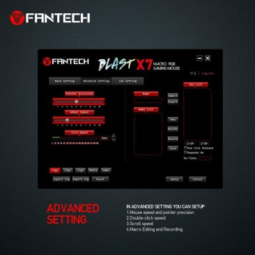 Fantech X7 BLAST PC Gaming Mouse Optical Adjustable 200-4800 DPI / RGB LED Running Chroma - 6 Programmable Macro Buttons