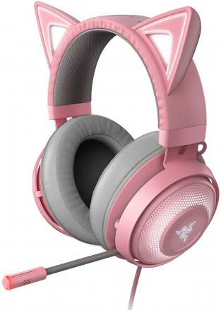 Razer RZ04-02980200-R3M1 Razer Kraken Kitty USB Gaming Headset with Chroma Lighting - QUARTZ