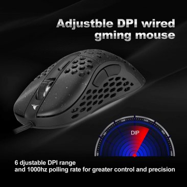 Darmoshark N1 Black Wired Gaming Mouse (6 Month Warranty)