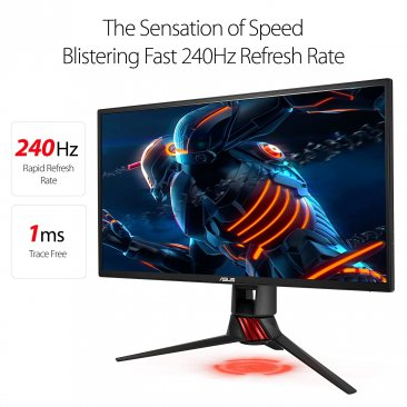 "ASUS ROG STRIX XG258Q, 25"" (24.5"") FHD (1920x1080) eSport Gaming monitor, 1ms, up to 240Hz, DP, HDMI, USB3.0, FreeSync, G-Sync compatible certified"