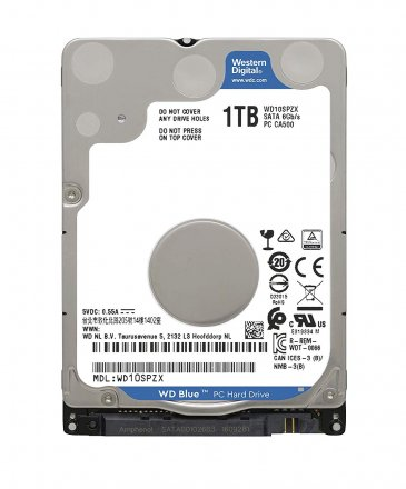 "Western Digital 1TB 5400 RPM SATA 6 Gb/s, 128 MB Cache, 2.5"" Internal Hard Drive - WD10SPZX"