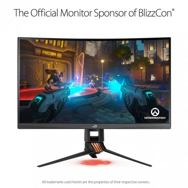 "Asus ROG Swift PG27VQ 27"" 1440p 1ms 165Hz DP HDMI G-SYNC Aura Sync Curved Gaming Monitor with Eye Care"