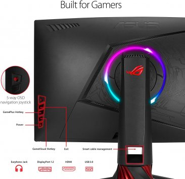 "ASUS ROG Strix XG35VQ 35"" Curved UWQHD 1440p 100Hz DP HDMI Eye Care FreeSync/Adaptive Sync Gaming Monitor"