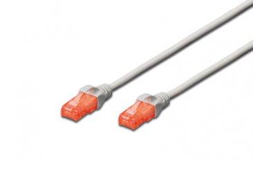 Digitus CAT 6 U-UTP patch cable, Cu, LSZH AWG 26/7, length 20 m, color grey - DK-1617-200